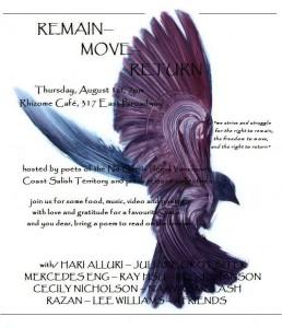 remain move  return