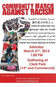 Anti Racism March poster